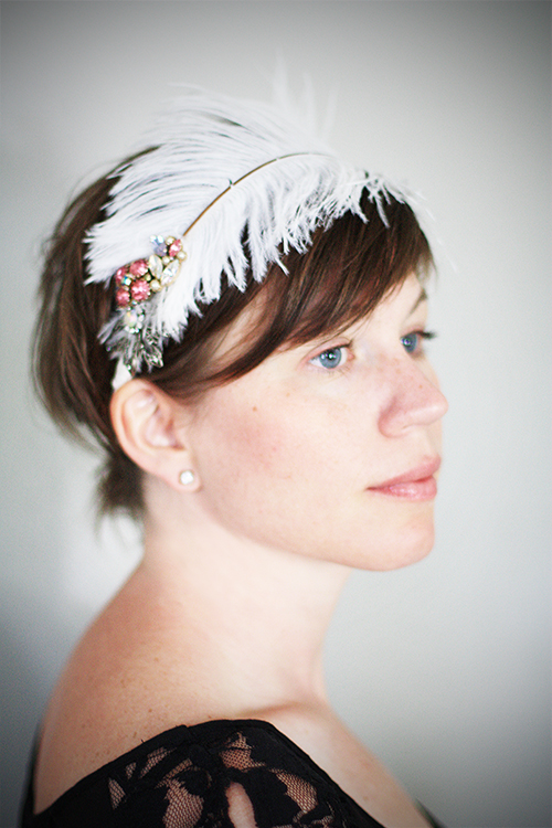 Feather-Headband-White