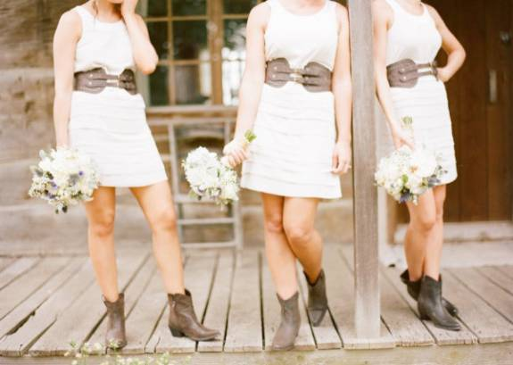 575 belted bridesmaids